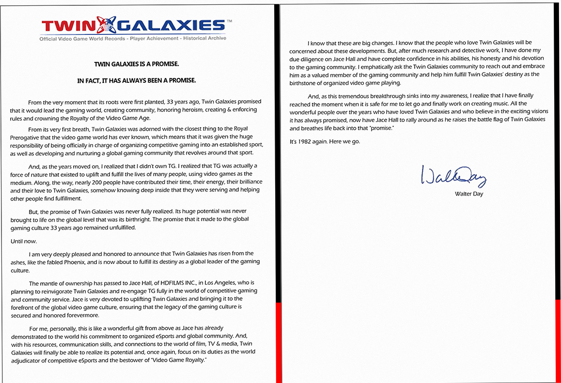 Here It Is:Walter Dayu0027s Letter · Walterday  Organizational Announcement Samples
